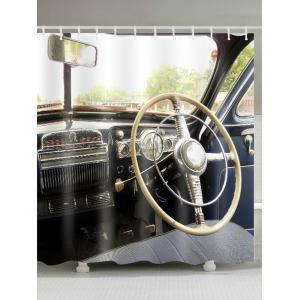 Waterproof Vintage Car Bathroom Shower Curtain