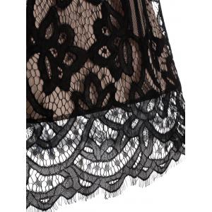Eyelash Lace Mini Backless Cami Dress - BLACK L