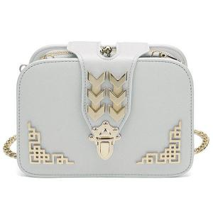 Metal Embellished Cross Body Bag - White