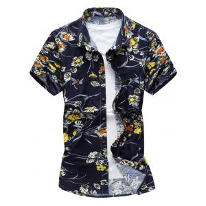 Button Up Stretch Floral Shirt