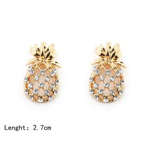 Hollow Out Pineapple Shape Earring - GOLDEN