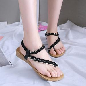Weaving Elastic Band Sandals -