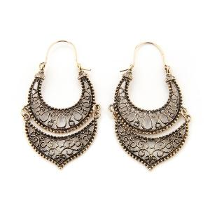 Roman Style Hollow Out Drop Earrings