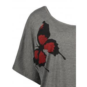 Impression Butterfly Print - Gris 2XL