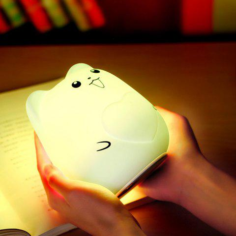 Fancy Color Change USB Charge Cartoon Pet Silicone LED Night Light - WHITE  Mobile