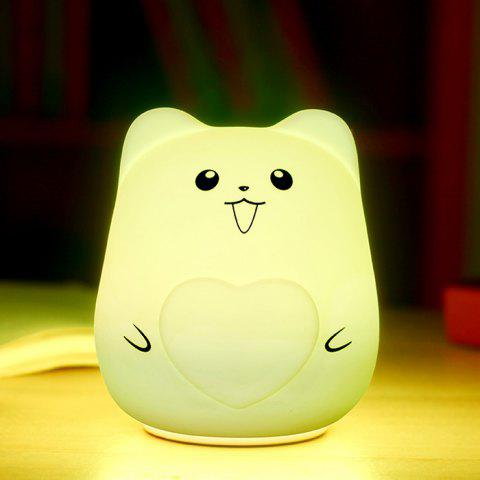 Buy Color Change USB Charge Cartoon Pet Silicone LED Night Light - WHITE  Mobile