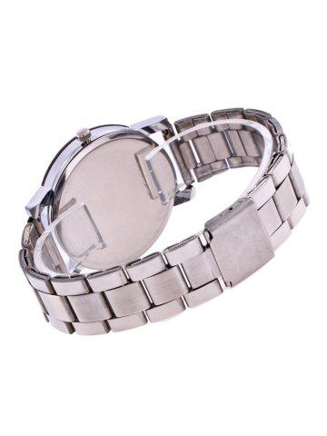 Outfit Rhinestone Alloy Strap Wrist Watch - SILVER  Mobile