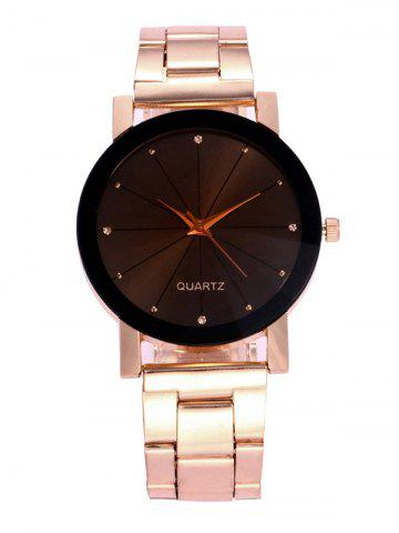 Buy Rhinestone Alloy Strap Wrist Watch ROSE GOLD