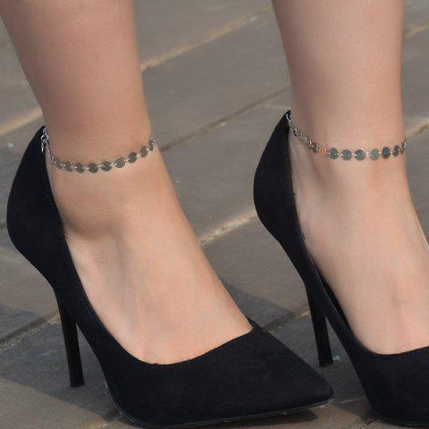 Trendy Sequin Adjustable Sparkly Anklet - SILVER  Mobile