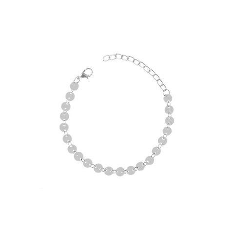 New Sequin Adjustable Sparkly Anklet - SILVER  Mobile