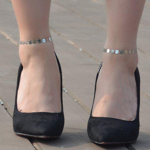 Buy Sequin Adjustable Sparkly Anklet - SILVER  Mobile
