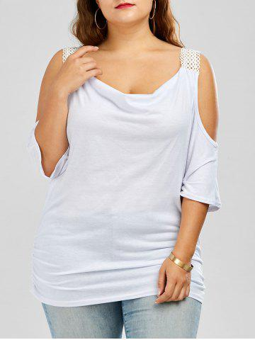 Chic Plus Size Batwing Sleeve Cold Shoulder Top