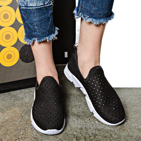 Chic Slip On Breathable Athletic Shoes - 38 BLACK Mobile