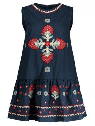 Discount Embroidered Sleeveless A Line Dress