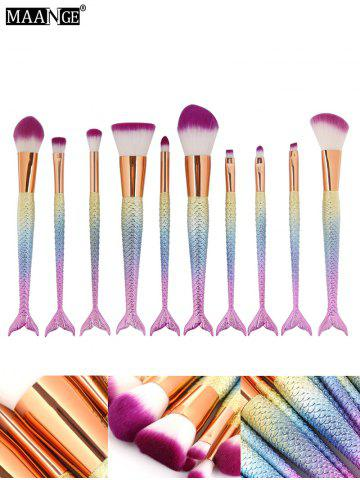 Online MAANGE 10 Pcs Ombre Rainbow Mermaid Makeup Brushes Set - COLORFUL  Mobile