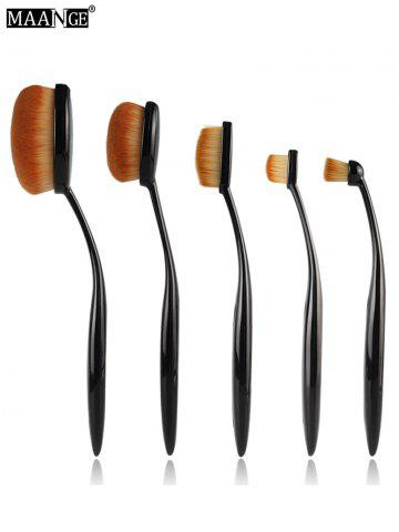Discount MAANGE 5Pcs Oval Toothbrush Shape Brushes Set - BLACK  Mobile