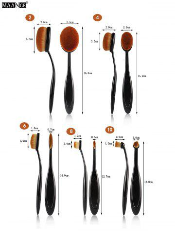 Fashion MAANGE 5Pcs Oval Toothbrush Shape Brushes Set - BLACK  Mobile