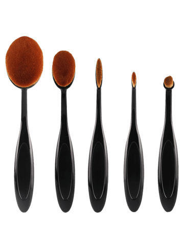 Sale MAANGE 5Pcs Oval Toothbrush Shape Brushes Set - BLACK  Mobile