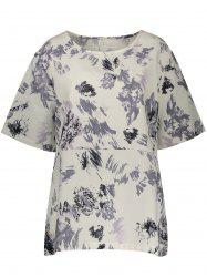 Plus Size Floral Linen Top