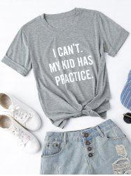 Short Sleeve My Kid Has Practice Tee