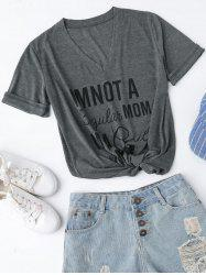 V Neck A Cool Mom Graphic Tee