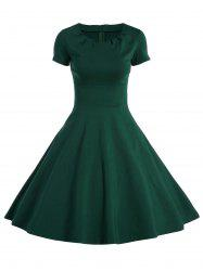 A Line Vintage Dress with Sleeves