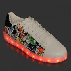 Printed Led Luminou Athletic Shoes