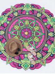 Print Sunbath Round Beach Throw -