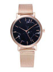 Marble Texture Steel Mesh Strap Quartz Watch - ROSE GOLD