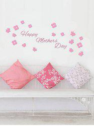 Vinyl Flower Butterfly Happy Mother's Day Wall Sticker