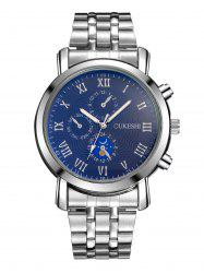 Alloy Strap Roman Numeral Wrist Quartz Watch - BLUE