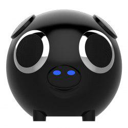 DUDU Pig Multifonction FM Radio Power Bank Bluetooth Speaker - Noir