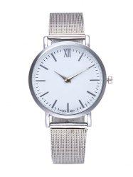 Mesh Roman Numeral Wrist Quartz Watch