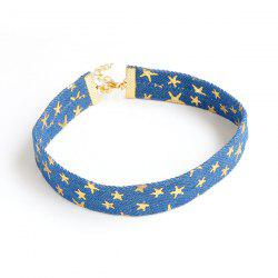 Novelty Denim Stars Choker Necklace