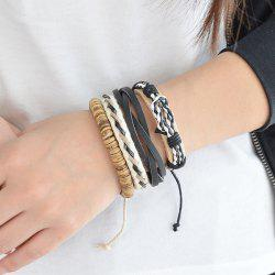Artificial Leather Layered Braid Boho Bracelet