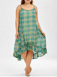 Chiffon Printed Plus Size Summer Dress