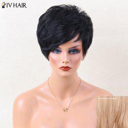 Siv Hair Short Straight Shaggy Side Bang Pixie Human Hair Wig