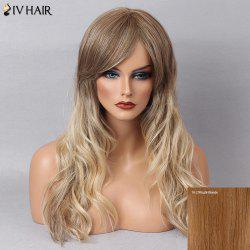 Siv Hair Long Natural Wave Colormix Inclined Bang Human Hair Wig