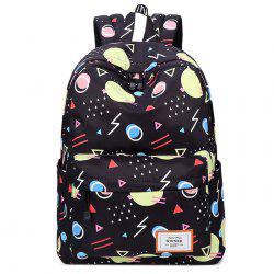 Casual Print Canvas Backpack