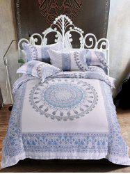 Comfortable Tencel Super Soft Jacquard Printed 4Pcs Bedding Set
