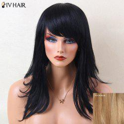 Siv Hair Layered Natural Straight Long Inclined Bang Human Hair Wig