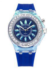 Rhinestone Noctilucence Number Quartz Watch
