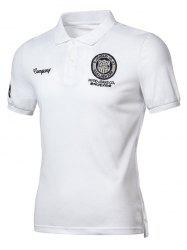 Applique Embroidered Polo Shirt