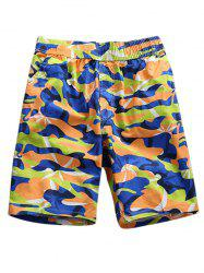 Camo Printed Board Shorts