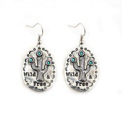 Cactus Engraved Bohemian Earrings
