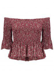Off The Shoulder Ruffle Blouse - RED S