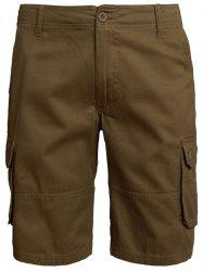 Zip Fly Multi Pockets Shorts
