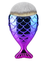 Wide Fiber Mermaid Foundation Brush - PURPLE