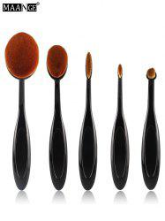 MAANGE 5Pcs Oval Toothbrush Shape Brushes Set - BLACK