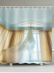 Long Tail Wedding Dress Waterproof Shower Curtain